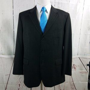 Jones New York Collection Brown Stripe Suit Blazer